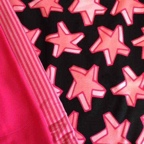 Stof Roze Sterren - tricot