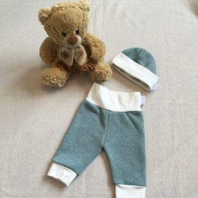 Babybroek mint glitter