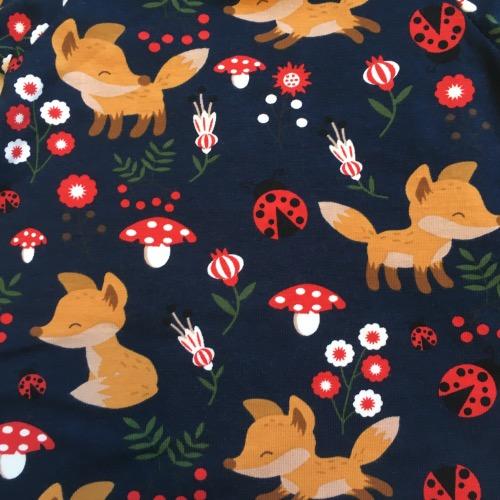 T-shirtjurk vossen, lieveheersbeestjes, paddestoelen
