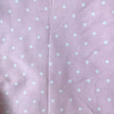 Katoen roze witte stippeen mondmasker mondkapje