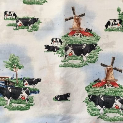 Katoen stoffen mondmasker mondkapje koeien
