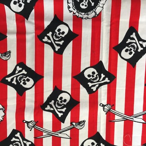 Katoen stoffen mondmasker mondkapje piratenvlag
