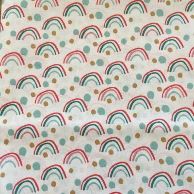 Stof mondkapje regenboog