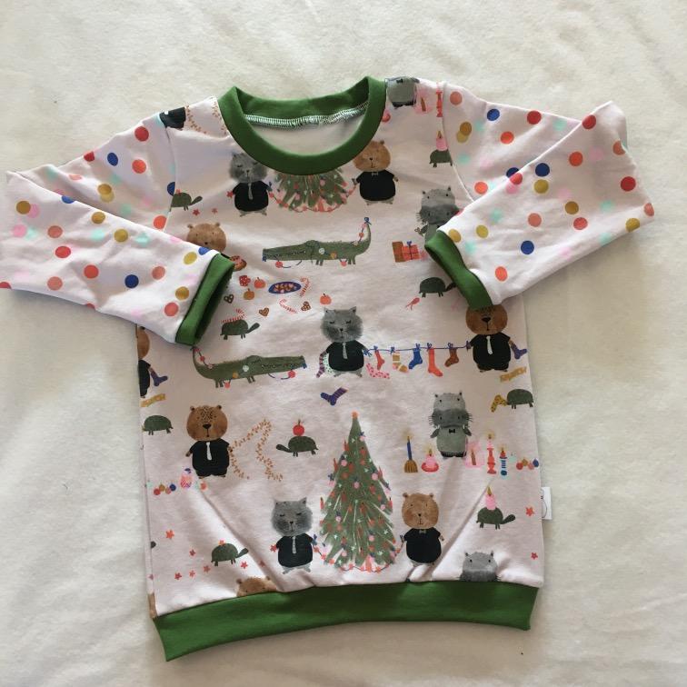 Kerstshirt met confetti GOTS