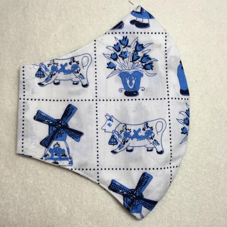 Mondkapje Delfts blauw 2