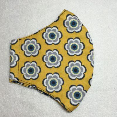 Mondkapje gele bloemen
